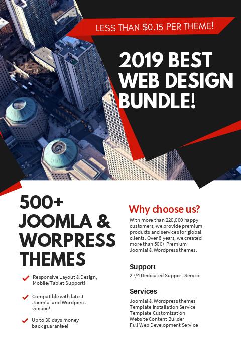 Joomla! & Wordpress 500+ themes bundle!
