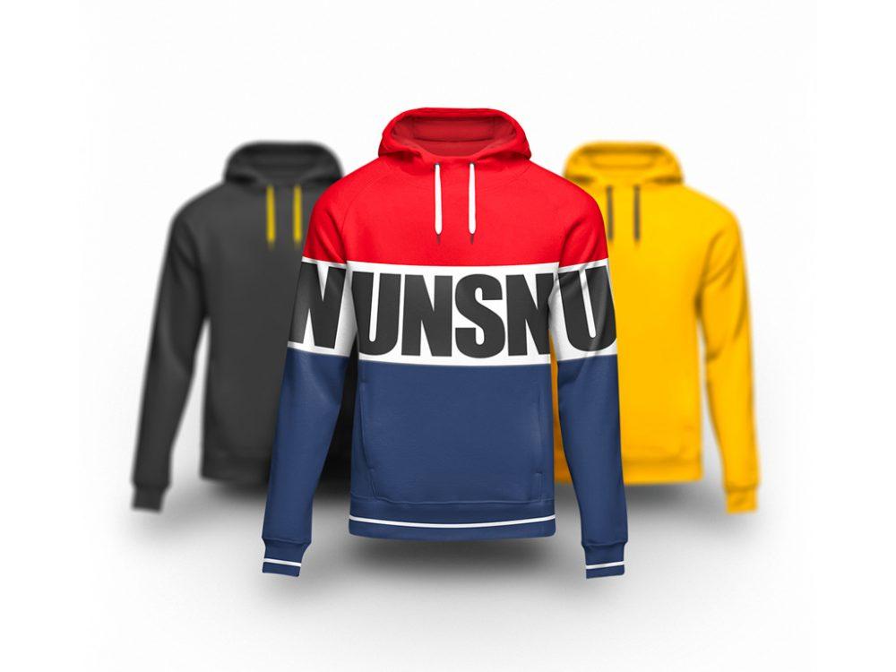 free hoodie with pull strings mockup