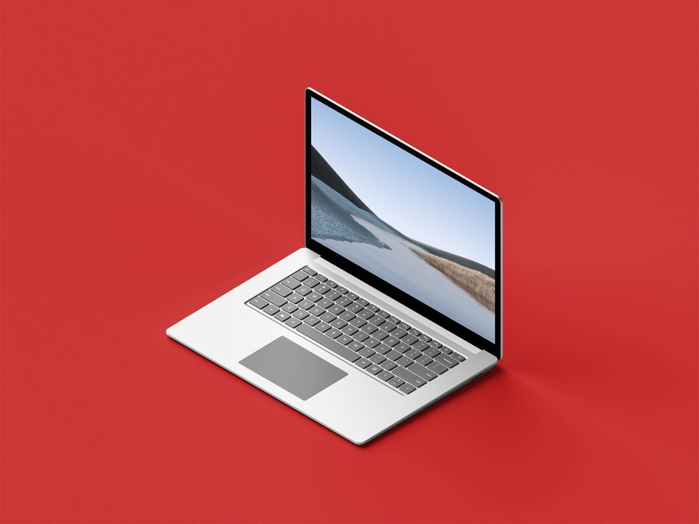 free laptop screen workspace mockup