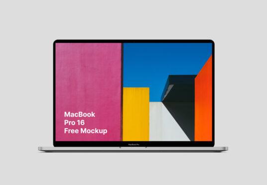 free macbook pro (16 inch) mockup