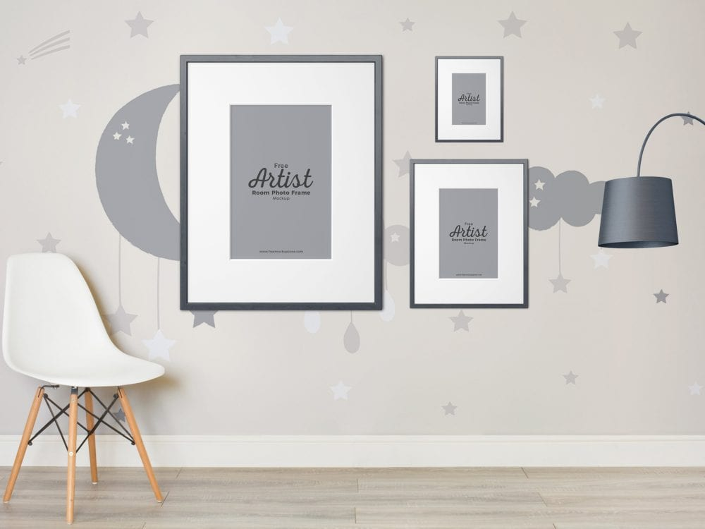 free artist room frame mockup