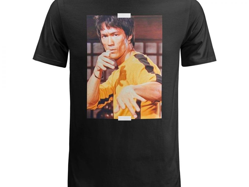free bruce lee t-shirt mockup