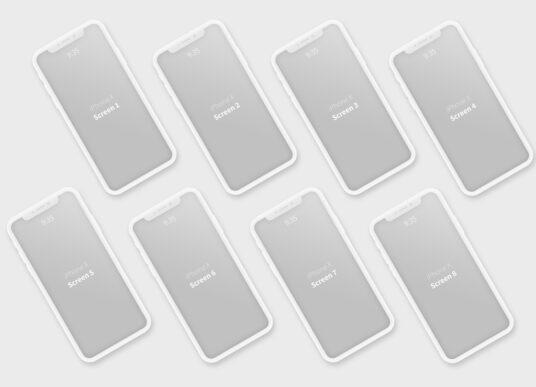 free iphone x clay style mockup