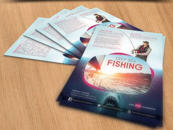 Deep Sea Fishing Free Mockup