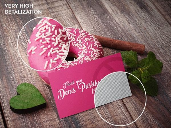 Donut Business Card Free Mockup