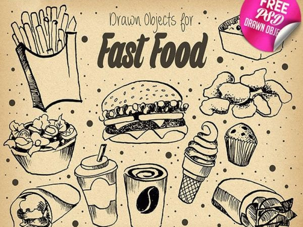 FAST FOOD ILLUSTRATION Free Mockup