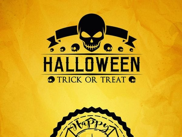 Happy Halloween Label Free Mockup