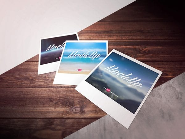Polaroid Photo Free Mockup