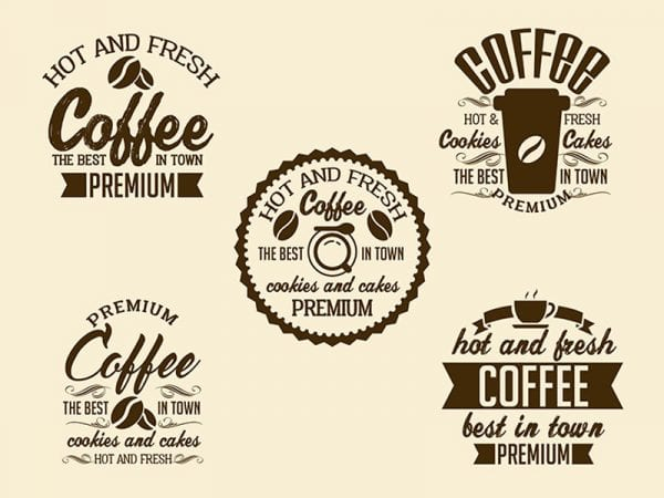 SET OF COFFEE SIGNS Free Mockup
