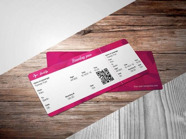 Ticket Free Mockup