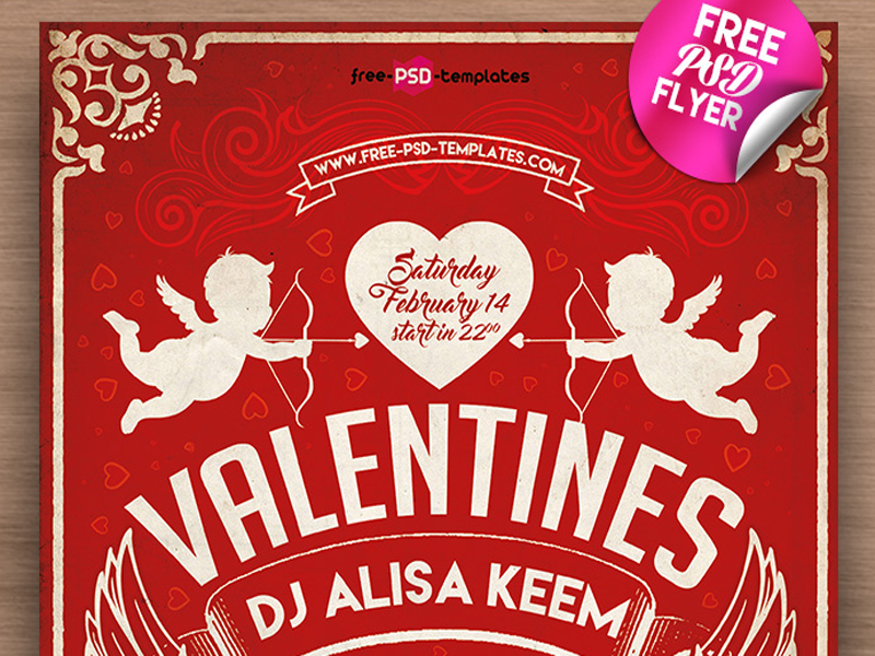 Valentines Day Free Mockup