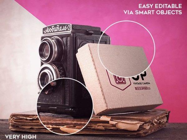 Vintage Camera Free Mockup