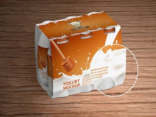 Yogurt Bottle Free Mockup