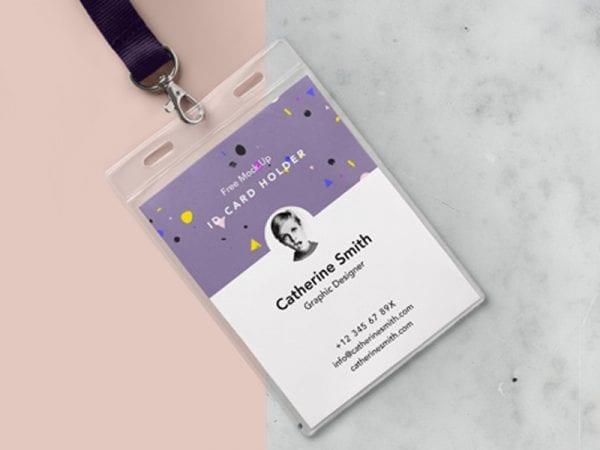 Identity Card Holder Free Mockup