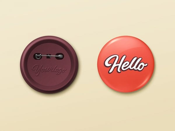 Pin Button Badge Free Mockup