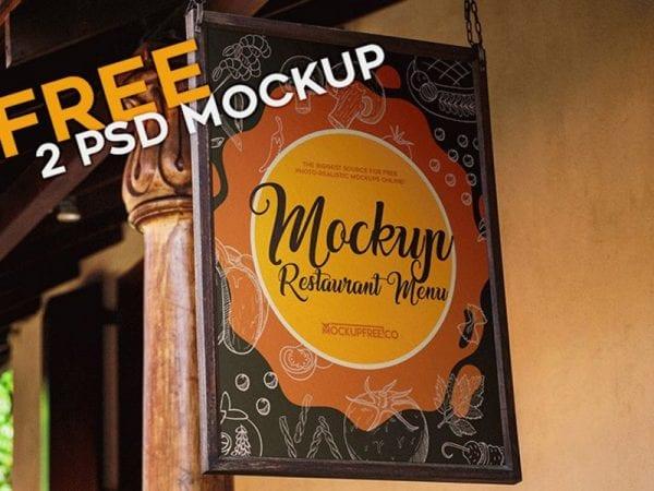 Restaurant Me Free Mockup