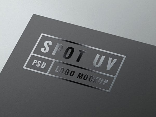 Spot UV Logo Free Mockup