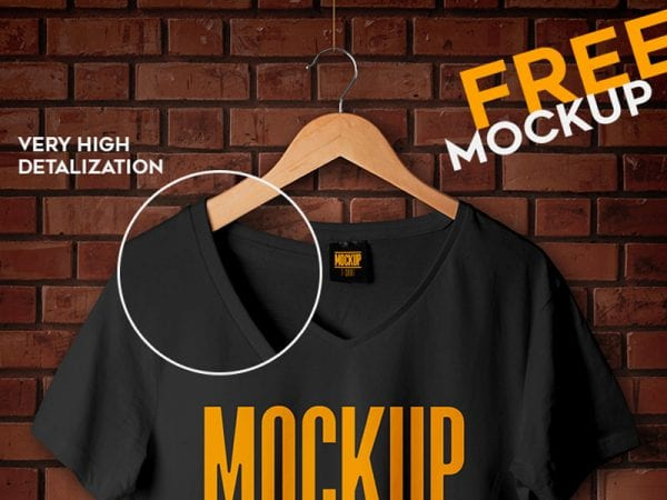 Studio T-shirt Free Mockup