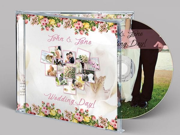 WEDDING CD/DVD COVER Free Mockup