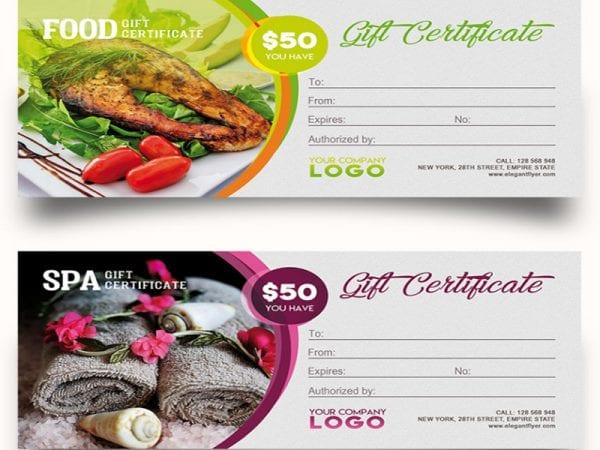Gift Certificate Free Mockup