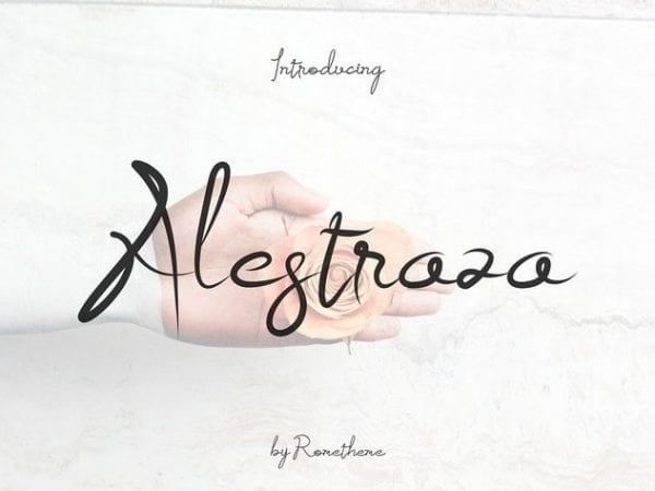 Alestraza Handwritten Brush Font
