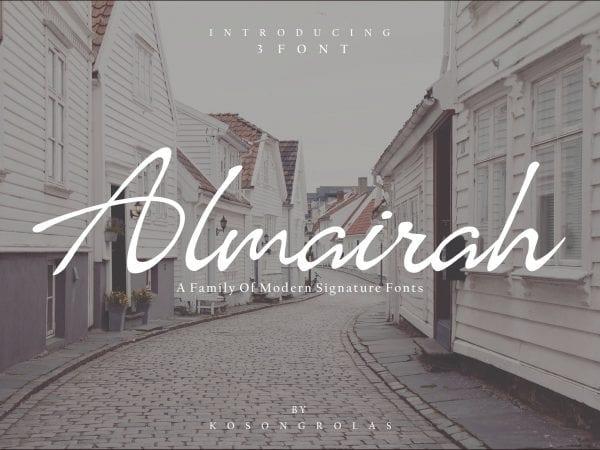 Almairah Free Modern Signature Font