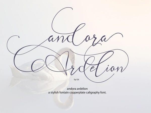 Andora Ardelion Calligraphy Script Font