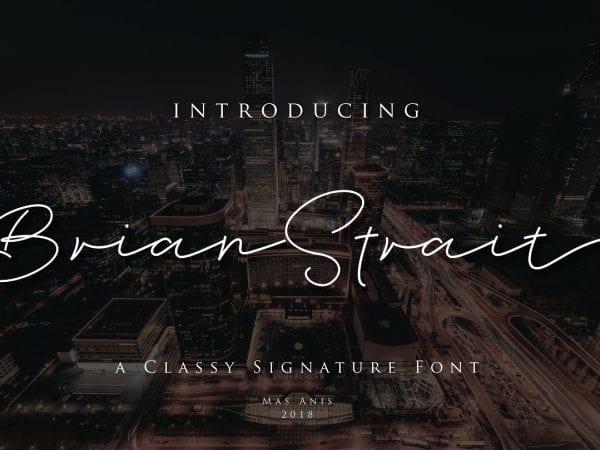 Brian Strait Beautiful Signature Fonts