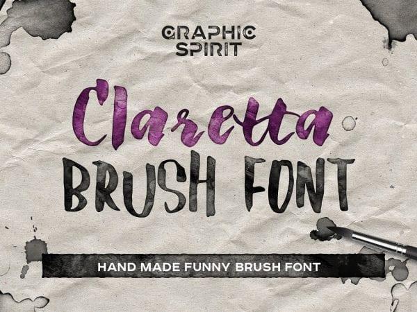 Claretta Handmade Brush Font 1