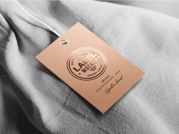 Clothing Tag Label Mockup PSD Template