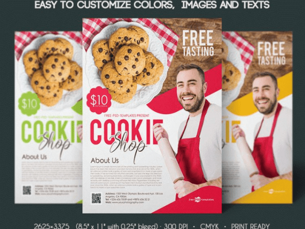 Cookie Shop Free PSD Flyer Templates