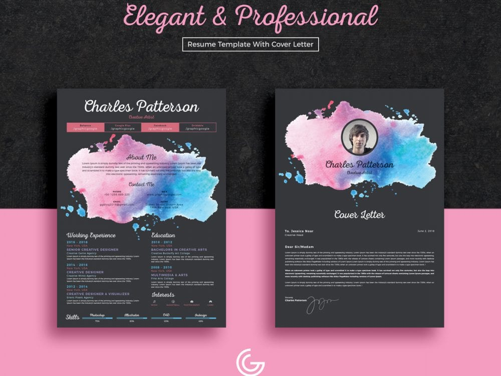 Elegant CV Resume Template Free Template With Cover Letter