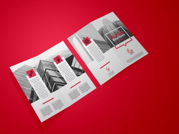Executive Bifold Brochure Mockup