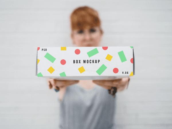 Free Box Mockup PSD Template