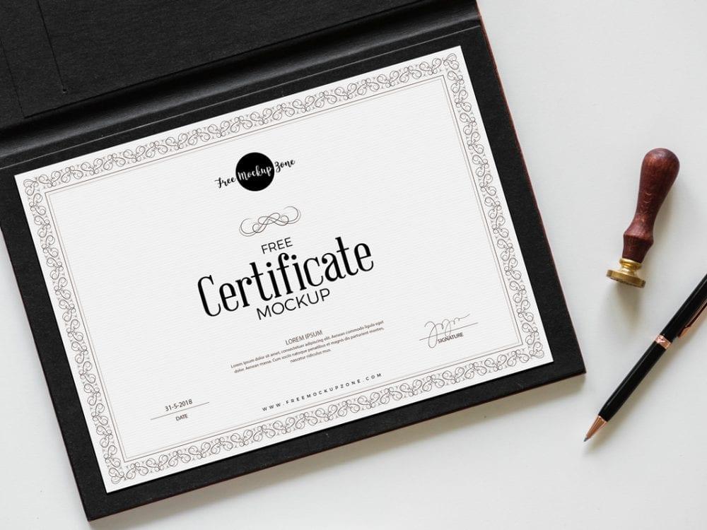 Certificate Psd Mockup Template Mockup Free Downloads
