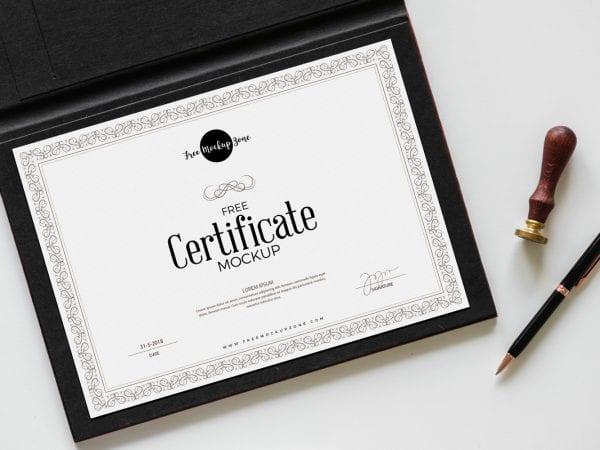 Free-Certificate-Mockup-PSD-600