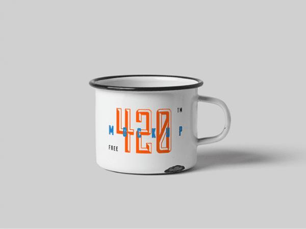 Free Metal Mug Mockup PSD Template