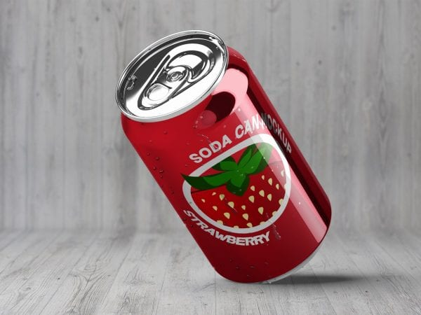 Free Soda Can PSD MockUp