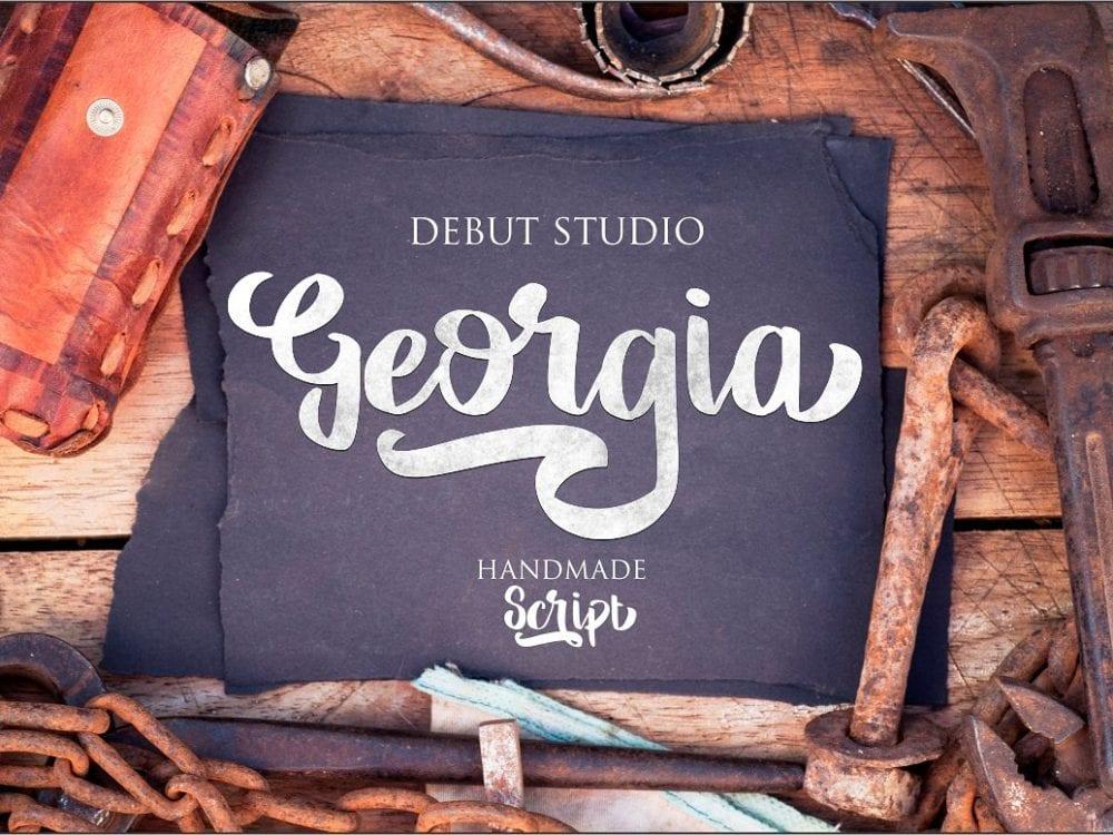 Georgia Handmade Script Font