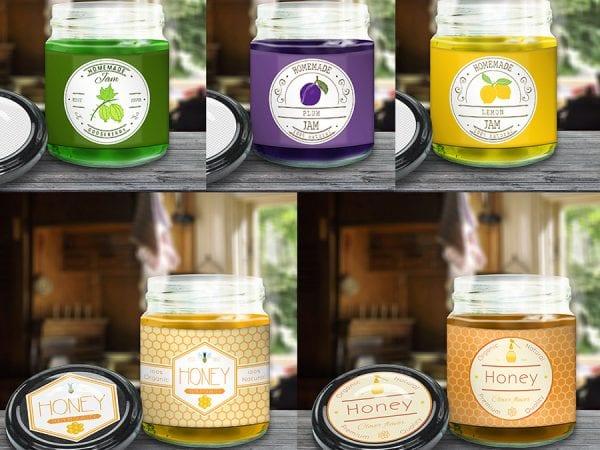 Glass Jam Jar Free PSD MockUp