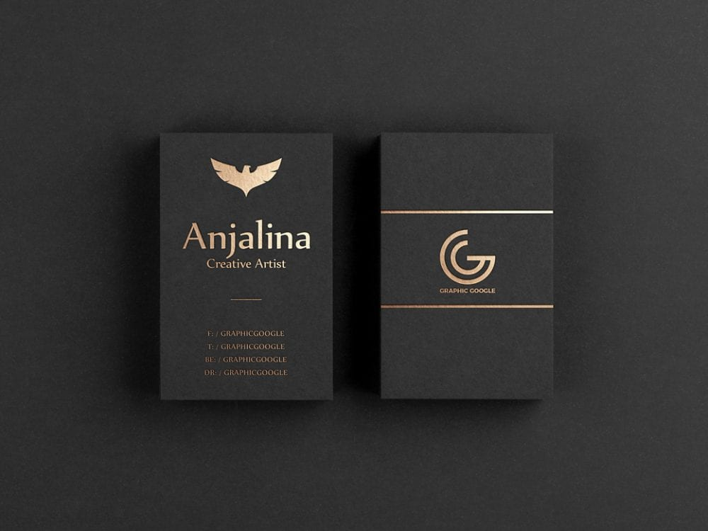 Free Fashion Business Card Psd Template