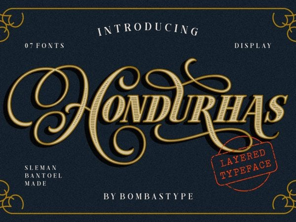 Hondurhas Free Display Fonts