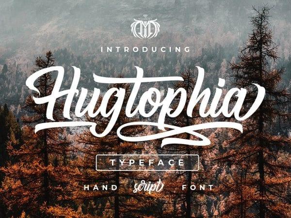 Hugtophia Free Script Typefaces