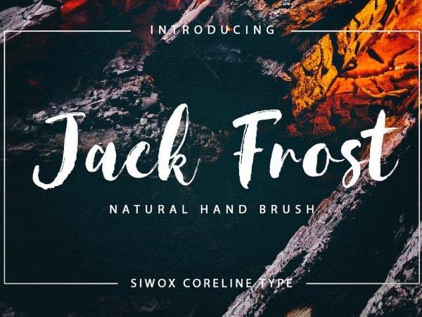 Jack Frost Handmade Brush Font