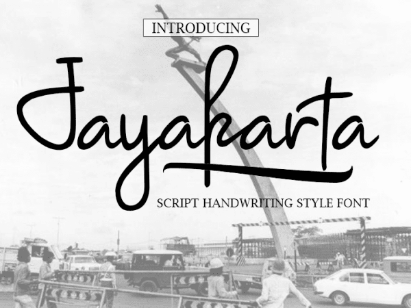 Jayakarta Script Writing Font