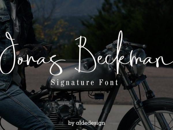 Jonas Beckman Free Signature Fonts