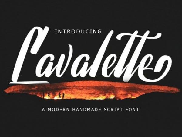 Lavalette Modern Handmade Script Font