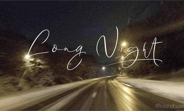Long Night Handwriting Signature Font