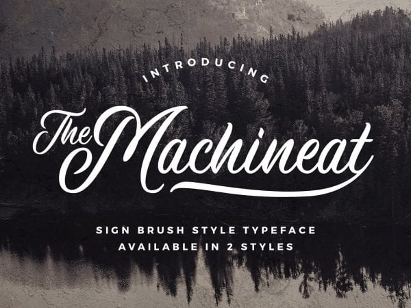 Machineat Brush Script Typeface