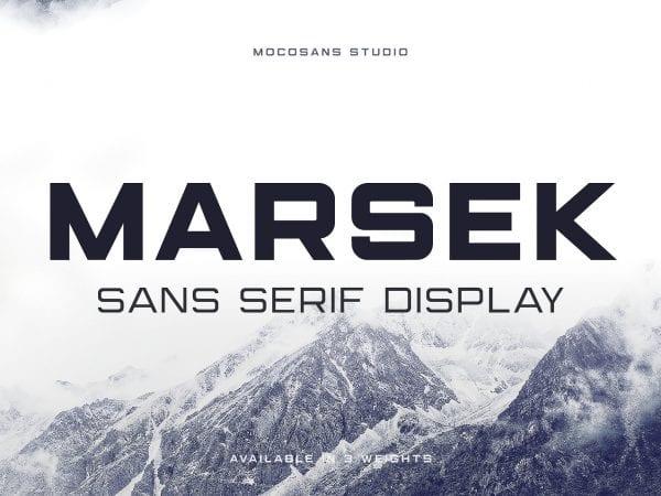 Marsek Free Sans Serif Font 1
